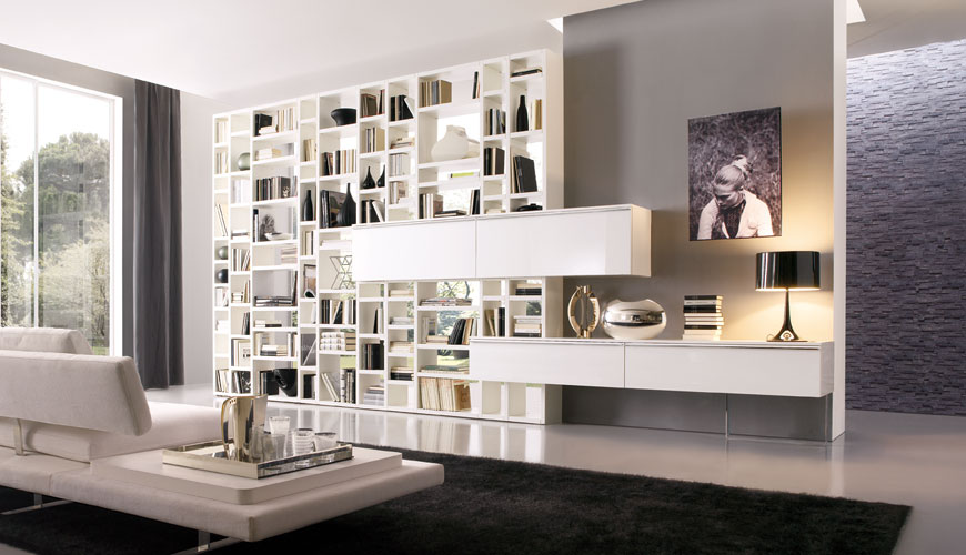 20 modern living room wall units for book storage from Modern shelves for living room