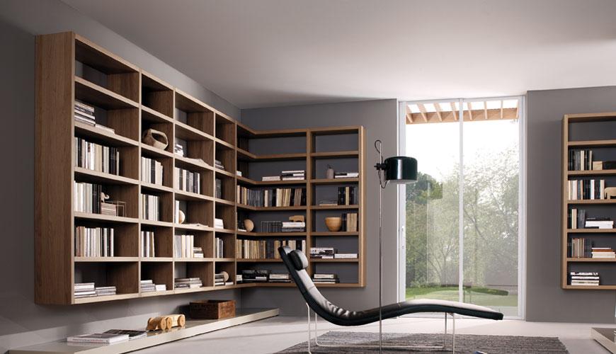 20 modern living room wall units for book storage from misuraemme digsdigs - Modern bookshelf wall unit ...