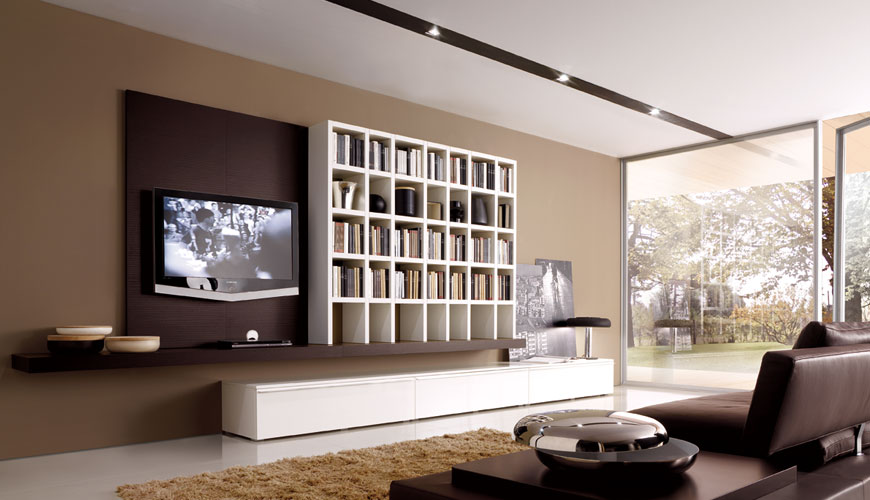 20 Modern Living Room Wall Units for Book Storage from Misuraemme ...