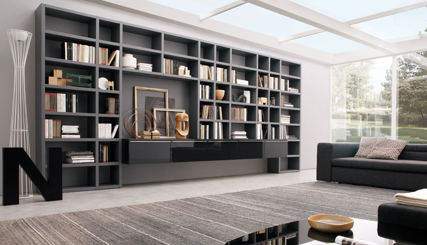 Captivating 20 Modern Living Room Wall Units For Book Storage From Misuraemme   DigsDigs