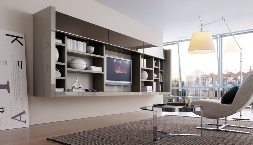 What Is Lacquer >> 20 Modern Living Room Wall Units for Book Storage from Misuraemme - DigsDigs
