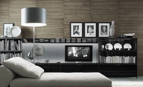 Bookcases for Living Room by Rimadesio