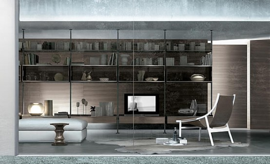 Bookcase For Living Room Zenit Libreria