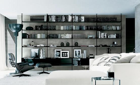 Bookcase For Living Room Zenit Libreria