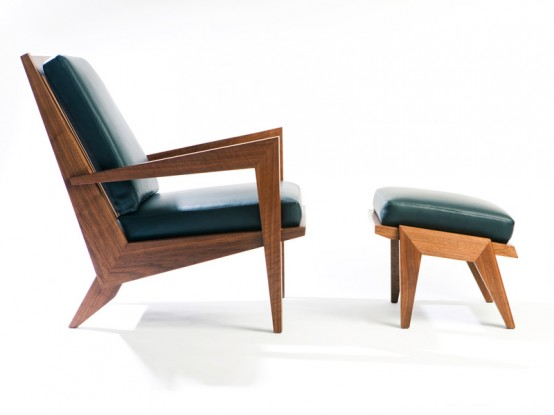 Mid-Century Danish-Inspired Lounge Chair