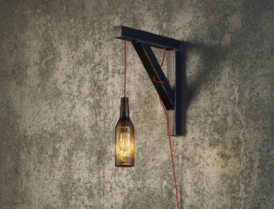 Bottle-Shaped Industrial Wall Lamp For Men Spaces