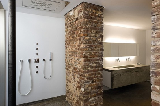 Fantastic Brick House In Industrial Style Digsdigs