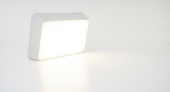 Brick Lamp With A Rechargeable Battery