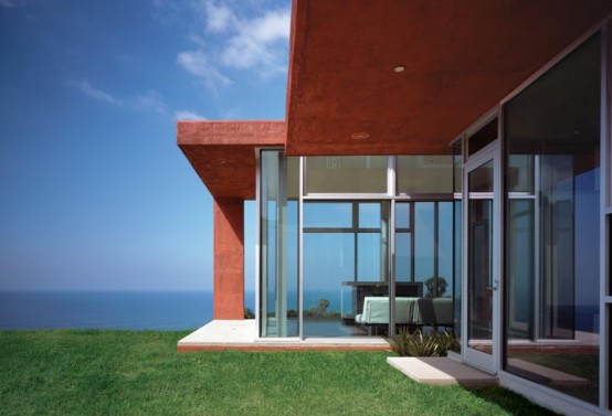 Brick Red Malibu House Design
