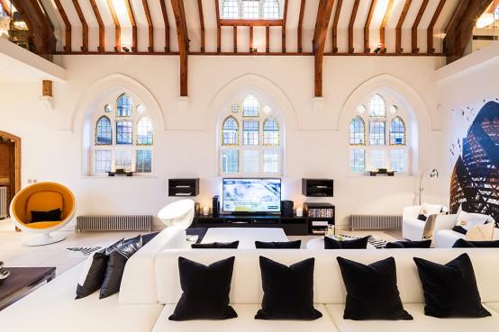Brick Victorian Church Turned Into A Super Modern Home