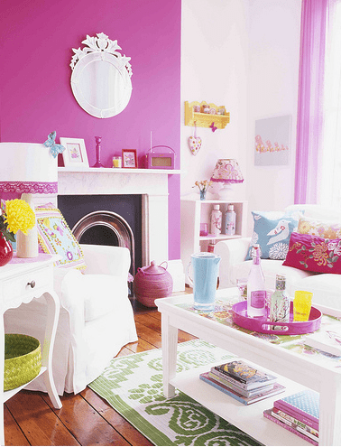 50 bright and colorful room design ideas digsdigs for Bright coloured living room ideas