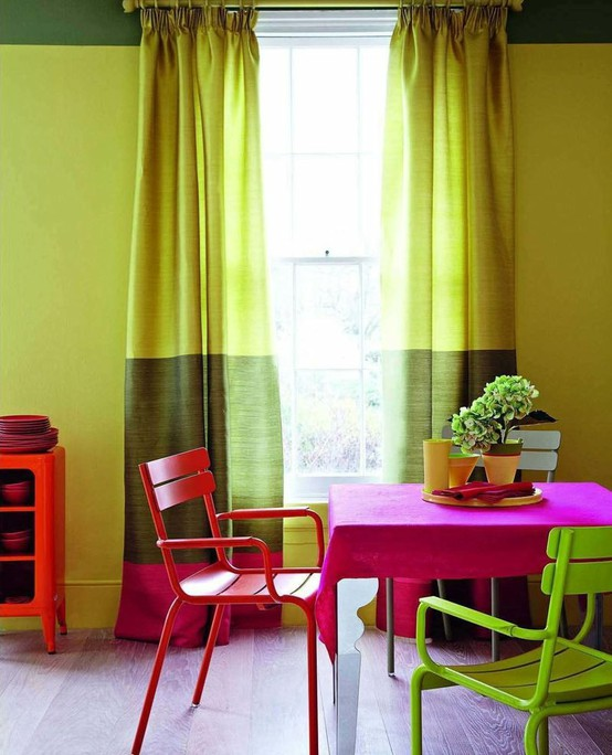 39 Bright And Colorful Dining Room Design Ideas
