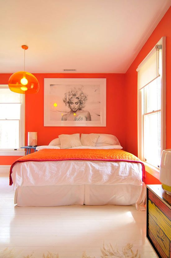30 Inspiring Designs Ripe Orange Room - Home Decoration