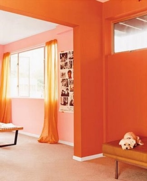 Bright And Inspiring Orange Room Designs