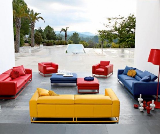 bright and modern sofas by roche bobois digsdigs