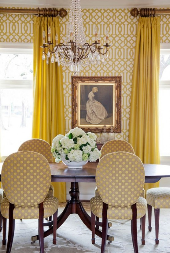 Banana mood 27 yellow dipped room designs digsdigs Yellow room design ideas