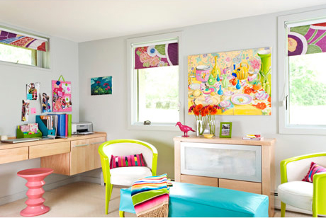 very bright and colorful basement bedroom design digsdigs