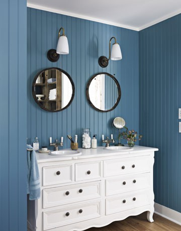 Bright Blue Bathroom