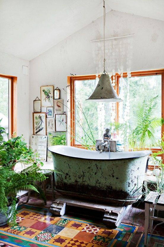 Bright Bohemian Bathroom Designs. 36 Bright Bohemian Bathroom Design Ideas   DigsDigs