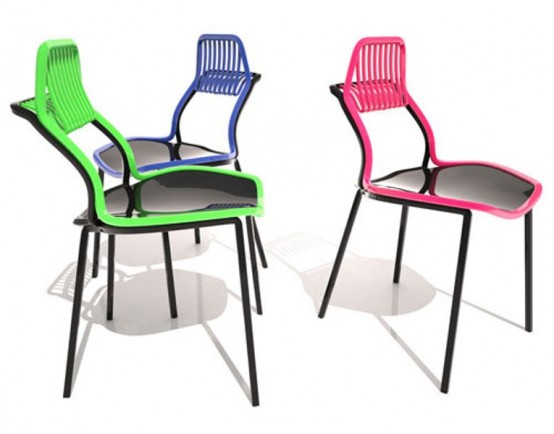 Bright Chair With A Rake For Your Bag