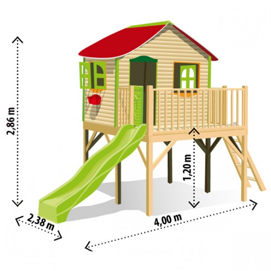 Do It Yourself Home Design: Bright Kids Play Houses By Soulet