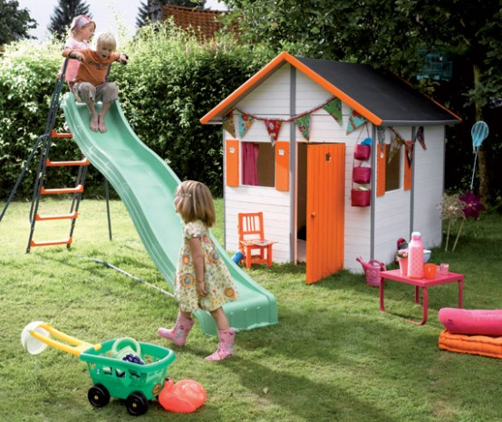 Bright kids play houses by soulet digsdigs - Maison de jardin enfant bois ...