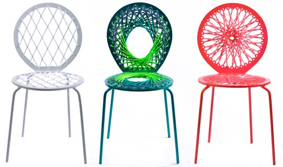 Bright Colored Vivid Chairs – Stretch by Jessica Carnevale