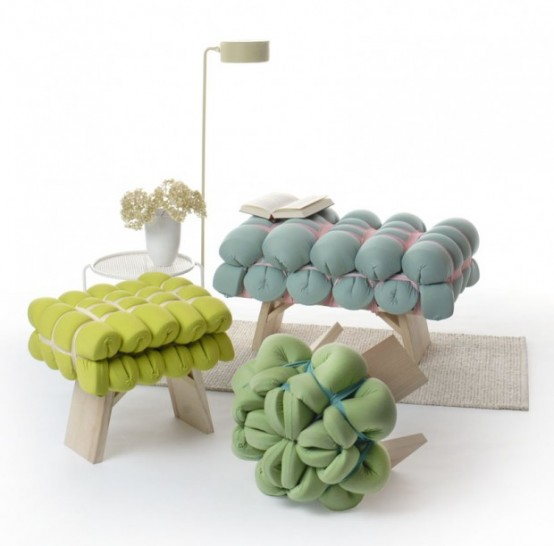 Bright Foam Stools For Minimalist Interiors