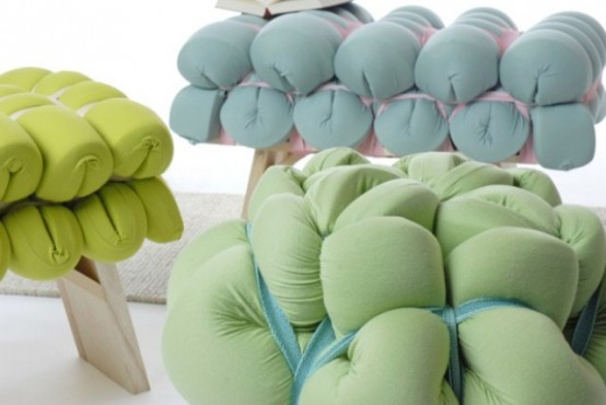 Bright Foam Stools For Minimalist Interiors