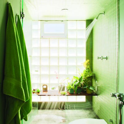 Bright Green Bathroom Design