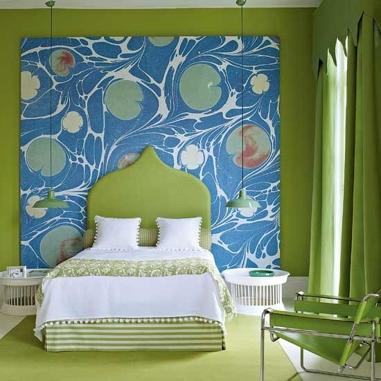 69 colorful bedroom design ideas digsdigs for Bright green bedroom ideas