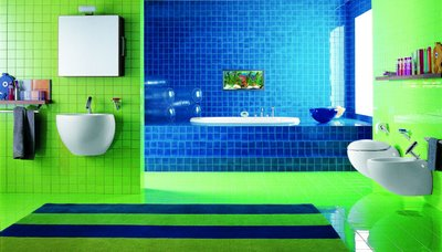 43 bright and colorful bathroom design ideas digsdigs for Blue green bathroom ideas