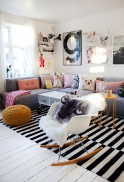 Bright Norwegian Nest With Animal Inspired Decorations