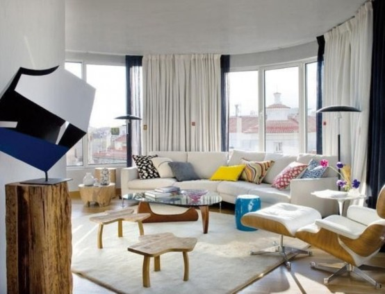 Bright Penthouse Designed In A Fusion Of Styles