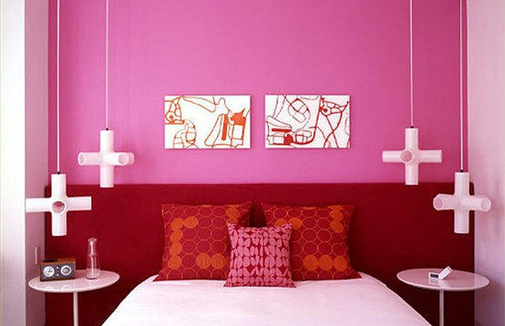 Bright Pink Bedroom