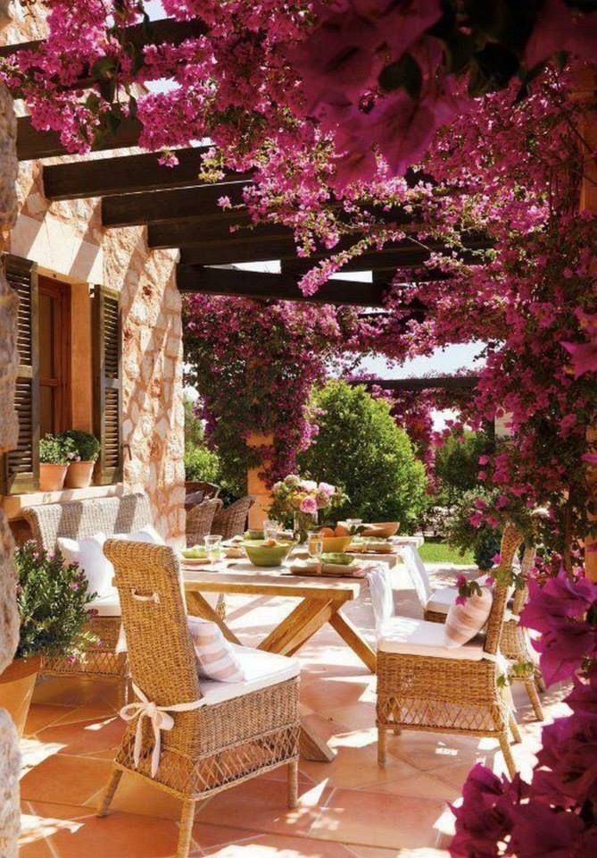 Bright Spring Terrace And Patio Decor Ideas