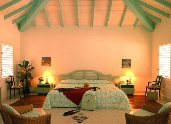 39 bright tropical bedroom designs digsdigs 13590 | bright tropical bedroom designs 11 554x403