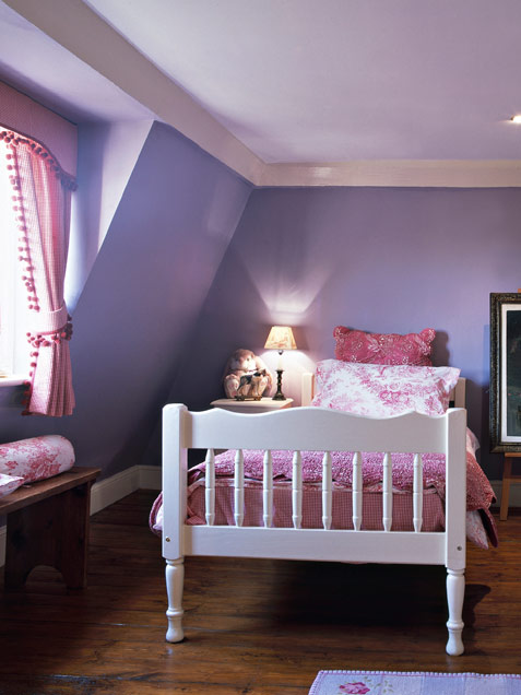 Bright Violet Childs Room