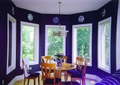 Bright Violet Dining Room