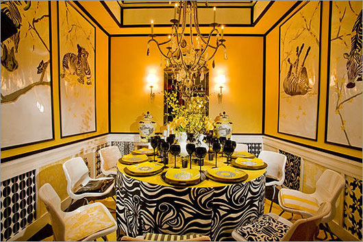 Bright Yellow Dining Room
