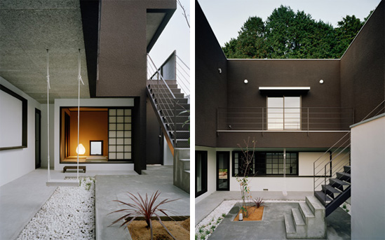 brown-house-koichi-kimura-4 Inside Garden House Designs on inside house greenhouse, simple house garden design, inside modern house design, japanese home design, inside house painting design, front of house garden design,