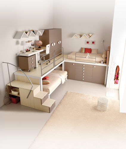 Wonderful Teenage Girls Bedroom Ideas with Loft Beds 423 x 500 · 32 kB · jpeg