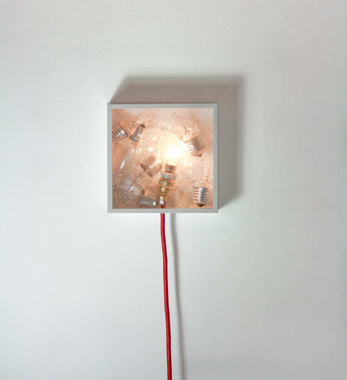Bulbbox Lamp Made With A Box Of Bulbs