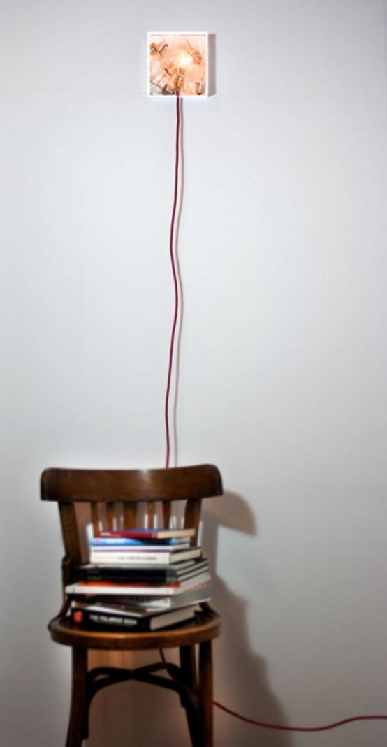 Bulbbox Lamp Made With A Box Of Bulbs