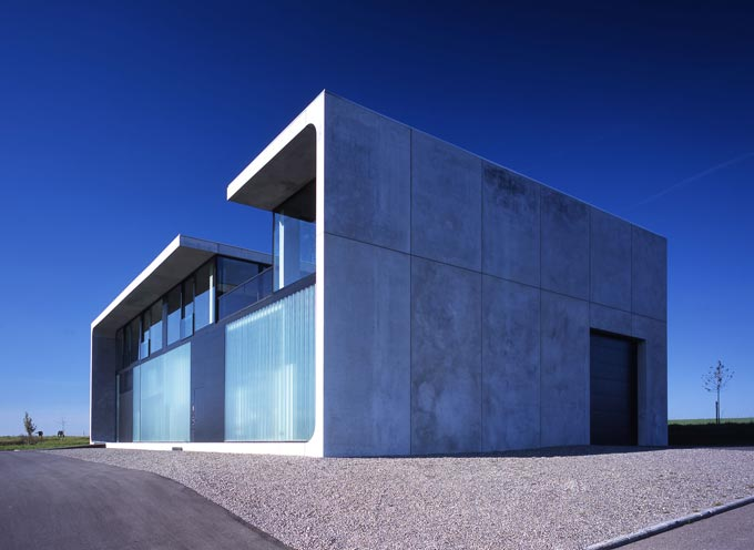 Bunker House Made Of Prefab Concrete Blocks
