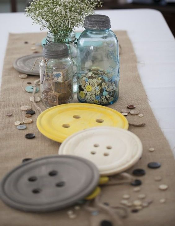 button themed  gender neutral baby shower