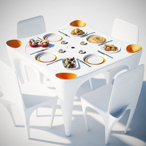 Bye Bye Wind Table For Meals Outdoors
