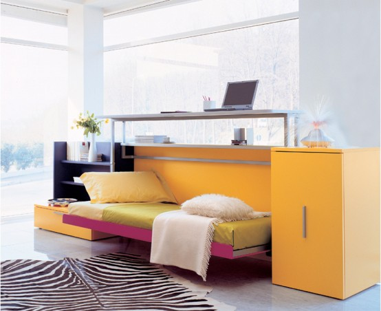 Cabrio In Wall Bed With Desk
