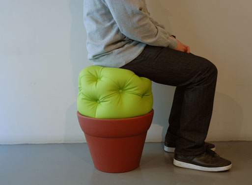 Unusual Indoor and Outdoor Pouf – The Cactus Stool