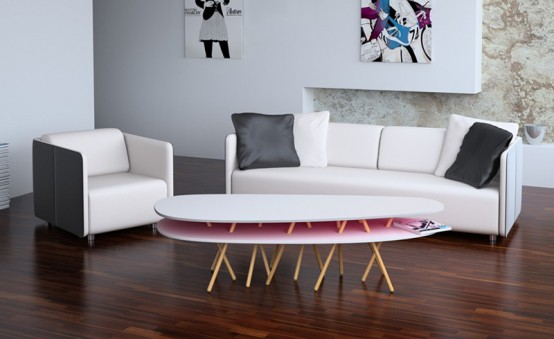 Caka Shaped Coffee Table